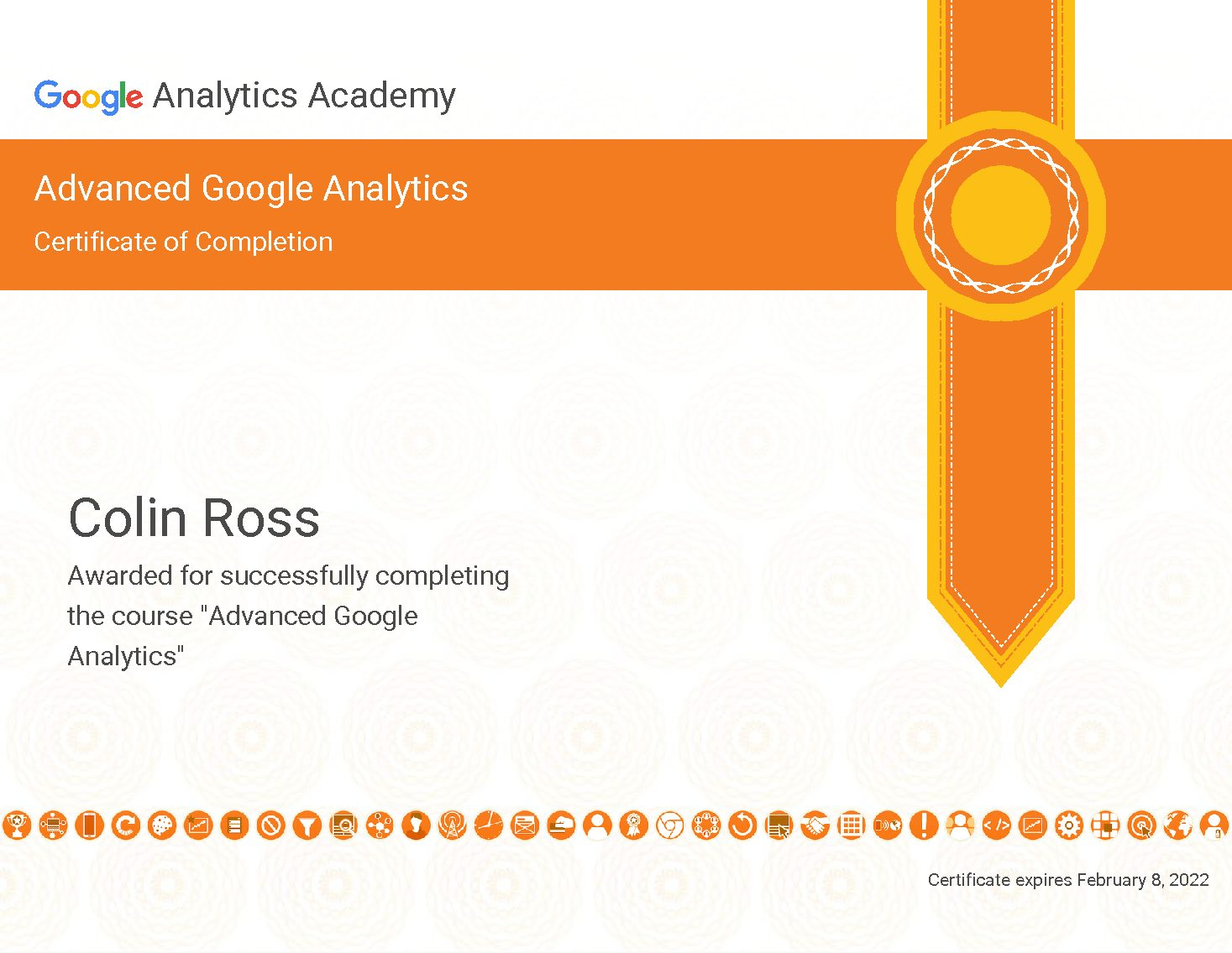 Advanced Google Analytics Certification Colin Can Help